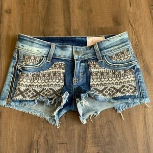 Siwy denim shorts with embroidery
